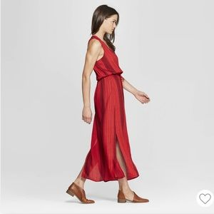Universal Thread Goods Co. Red Striped Maxi Dress
